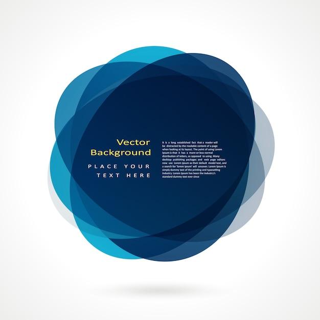 Abstract cirkel frame Gratis Vector