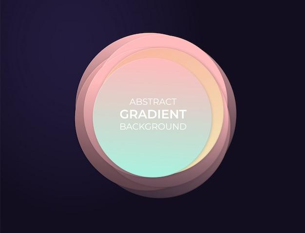 Abstract cirkeltekstvakje met zachte moderne gradiënten en 3d effect. achtergrond illustratie. Premium Vector