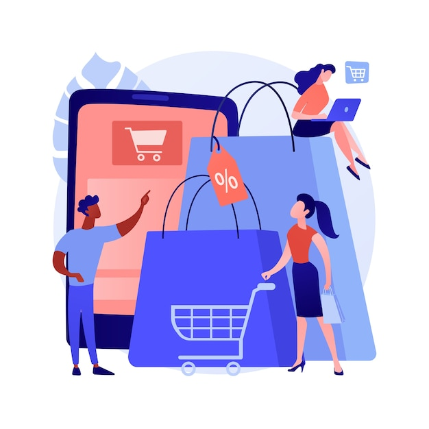 Abstract concept van de consumptiemaatschappij Gratis Vector