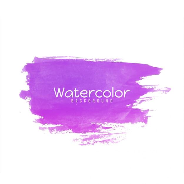 Abstract de slagontwerp van de waterverf roze borstel Gratis Vector