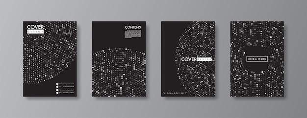Abstract dekking en brochureontwerp. Premium Vector