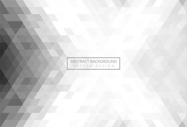 Abstract driehoekspatroon grijs Gratis Vector