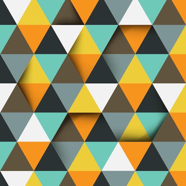 Abstract driehoekspatroon met exemplaarruimte Premium Vector