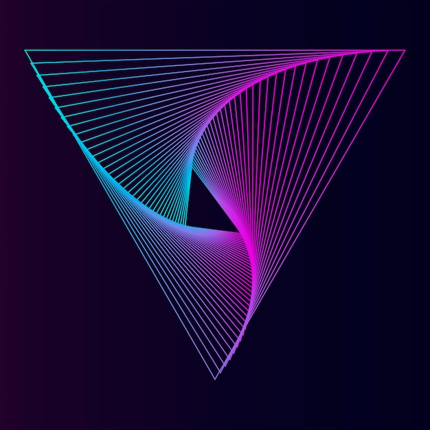 Abstract dynamisch patroonbehang Gratis Vector