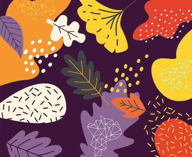 Abstract floral doodle kunst Premium Vector