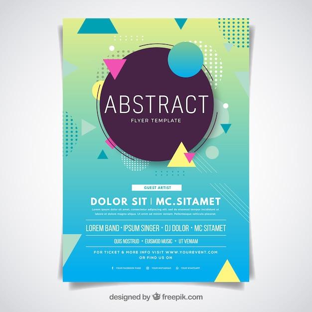 Abstract flyer-sjabloon met platte ontwerp Gratis Vector