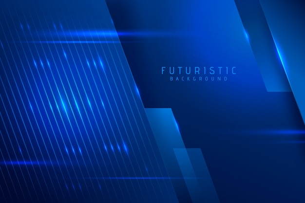 Abstract futuristisch behangconcept Gratis Vector