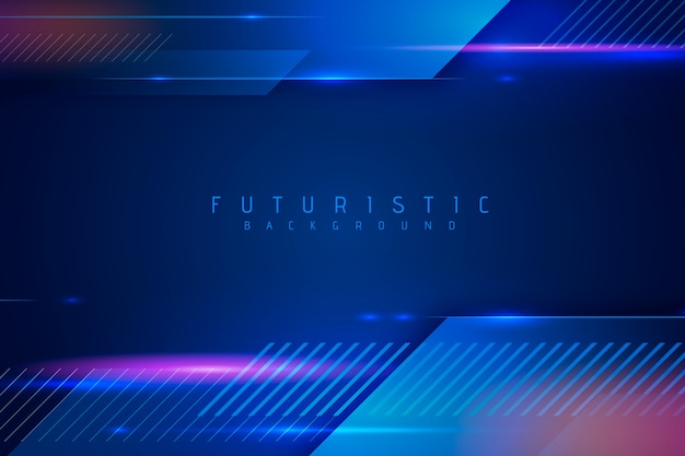 Abstract futuristisch behangontwerp Premium Vector