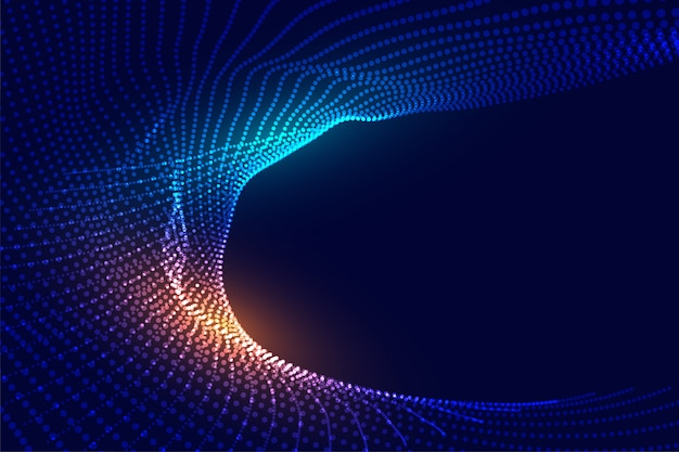 Abstract futuristisch digitaal deeltjes gloeiend ontwerp als achtergrond Gratis Vector