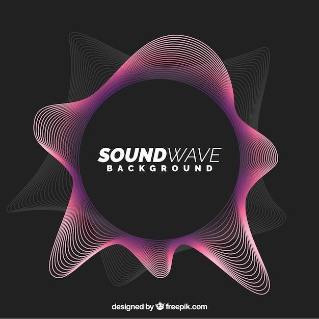 Abstract geluidsgolf achtergrond Gratis Vector