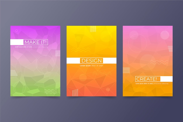 Abstract geometrisch dekking collectieconcept Gratis Vector
