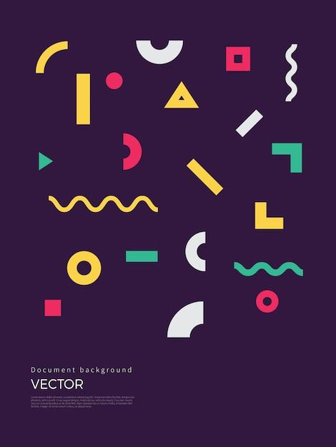 Abstract geometrisch ontwerp als achtergrond Premium Vector