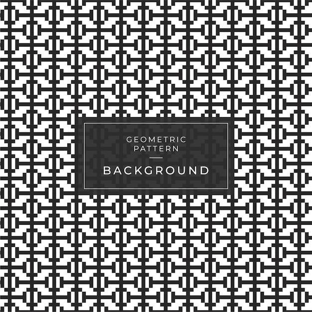 Abstract geometrisch patroon met strepen, lijnen. een naadloze spelachtergrond. zwart en wit textuur. Premium Vector