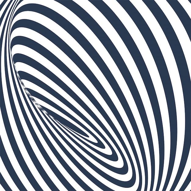Abstract geometrisch patroon met zigzaglijnen Gratis Vector