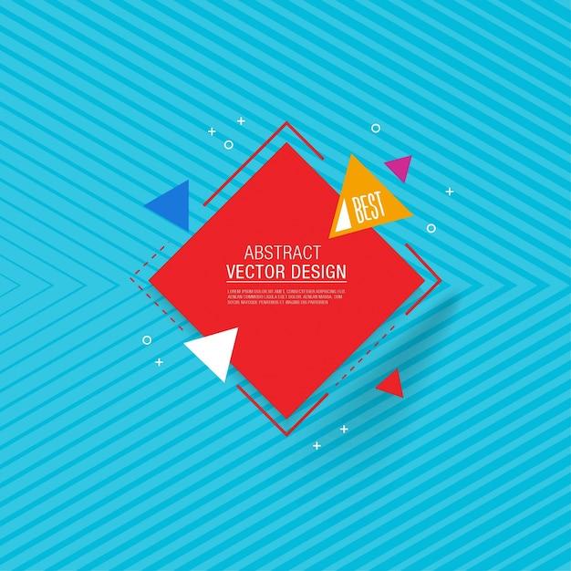 Abstract geometrische achtergrond ontwerp Gratis Vector