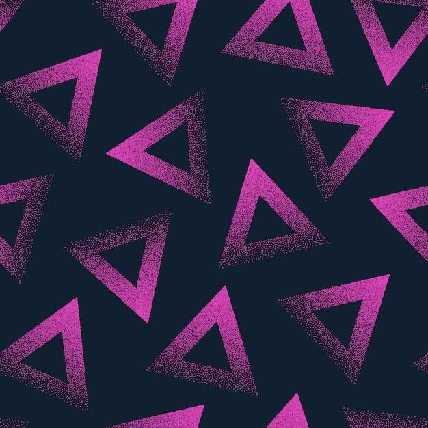 Abstract gestippeld naadloos patroon Premium Vector