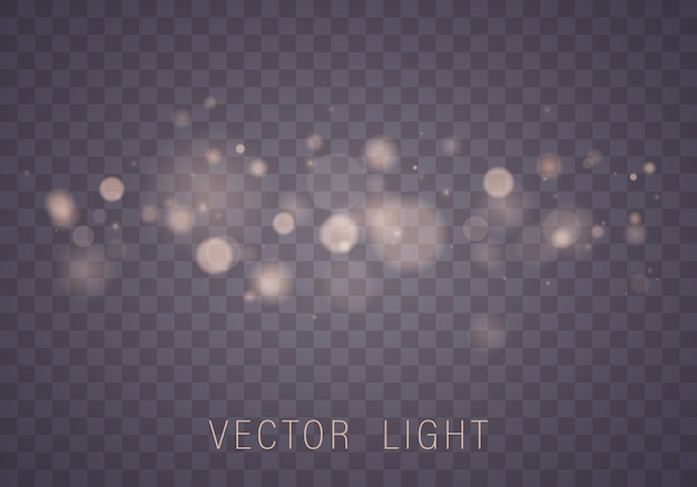 Abstract gloeiend bokeh geïsoleerd lichteffect Premium Vector
