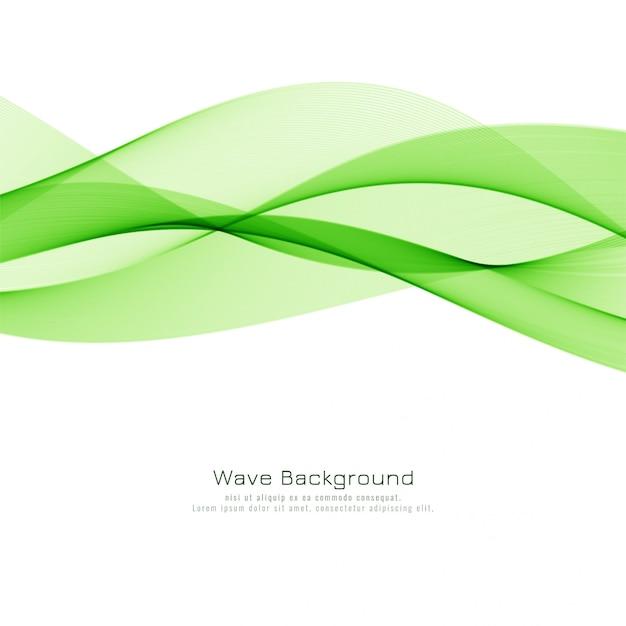 Abstract groen golf modern ontwerp als achtergrond Gratis Vector