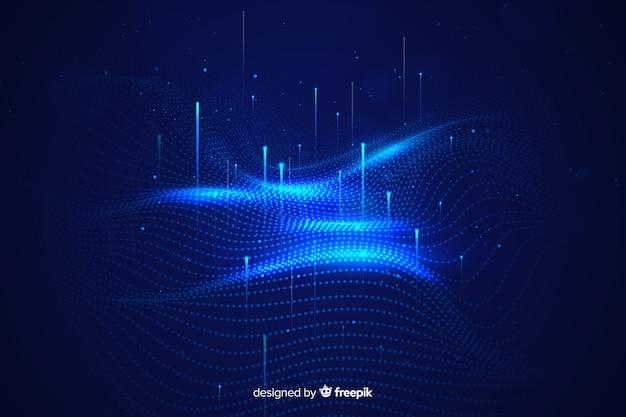 Abstract groot gegevensconceptbehang Gratis Vector