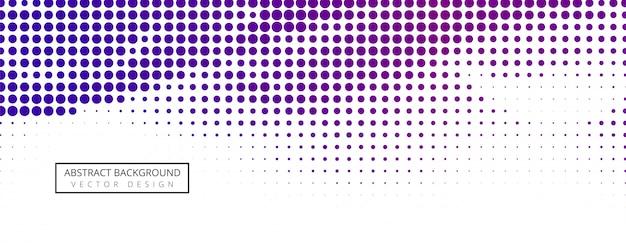Abstract halftone bannerontwerp Gratis Vector
