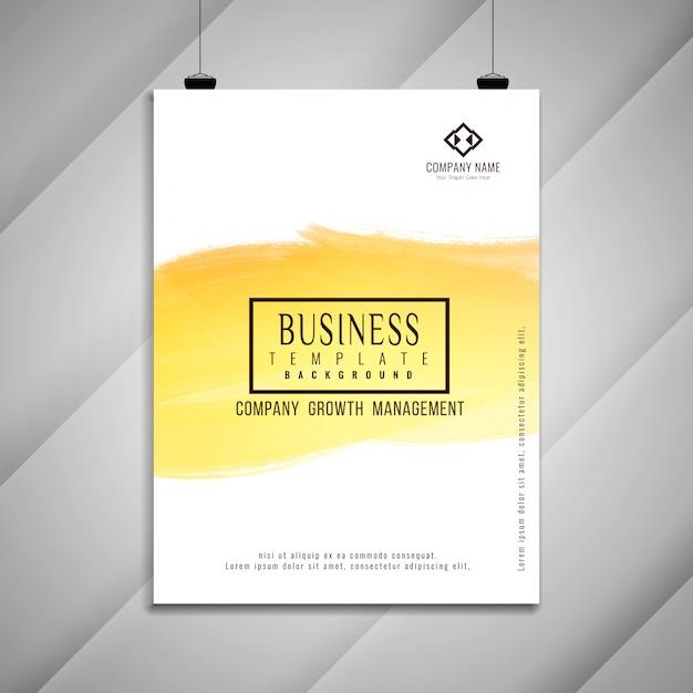 Abstract heldere zakelijke brochure sjabloonontwerp Gratis Vector