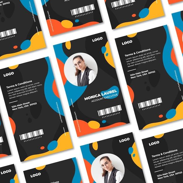 Abstract id-kaarten sjabloon concept Gratis Vector