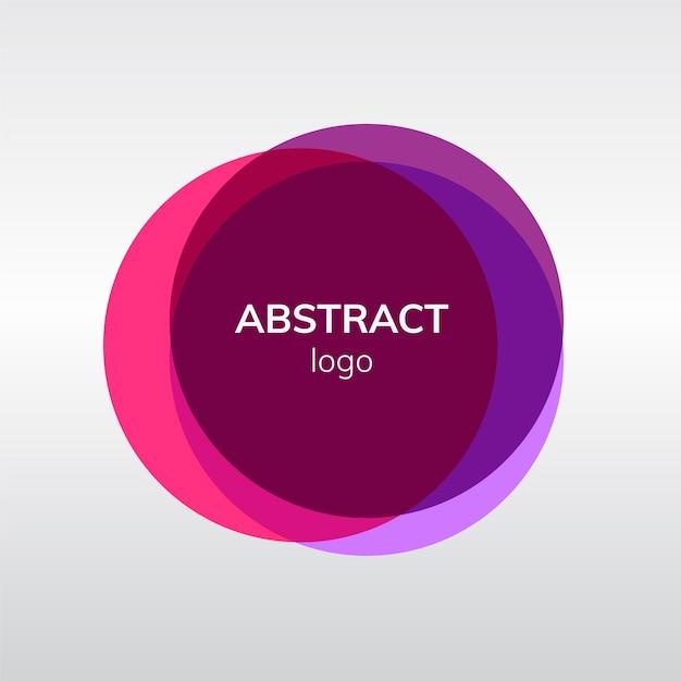 Abstract kentekenontwerp in roze Gratis Vector