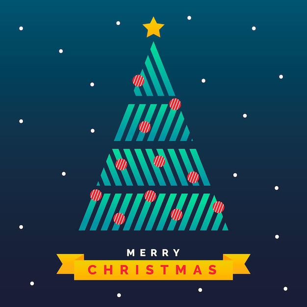 Abstract kerstboom concept Gratis Vector