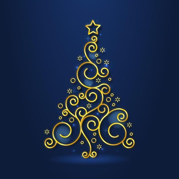 Abstract kerstboom concept Gratis Vector