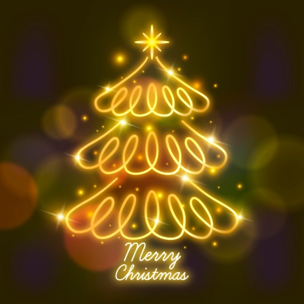 Abstract kerstboom concept Premium Vector