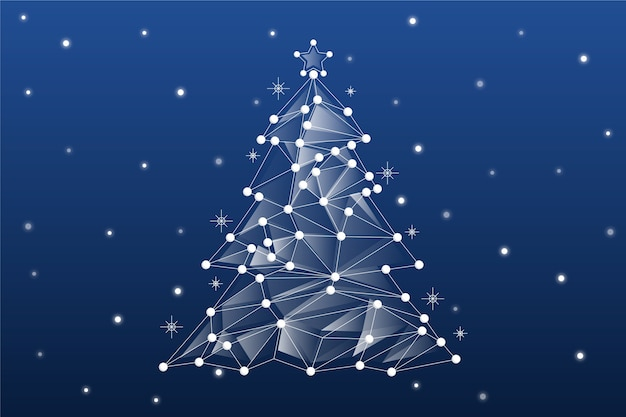 Abstract kerstboomconcept Gratis Vector