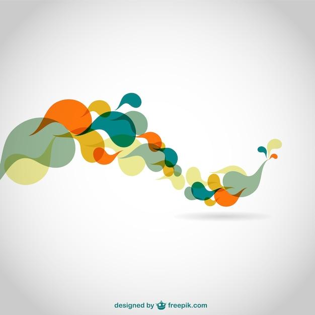 Abstract kleurenwervelingen vector achtergrond Gratis Vector