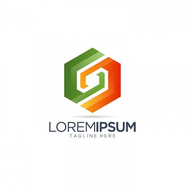 Abstract kleurrijk logo Premium Vector