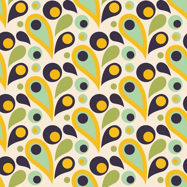 Abstract kleurrijk naadloos patroon met daling of blad Premium Vector
