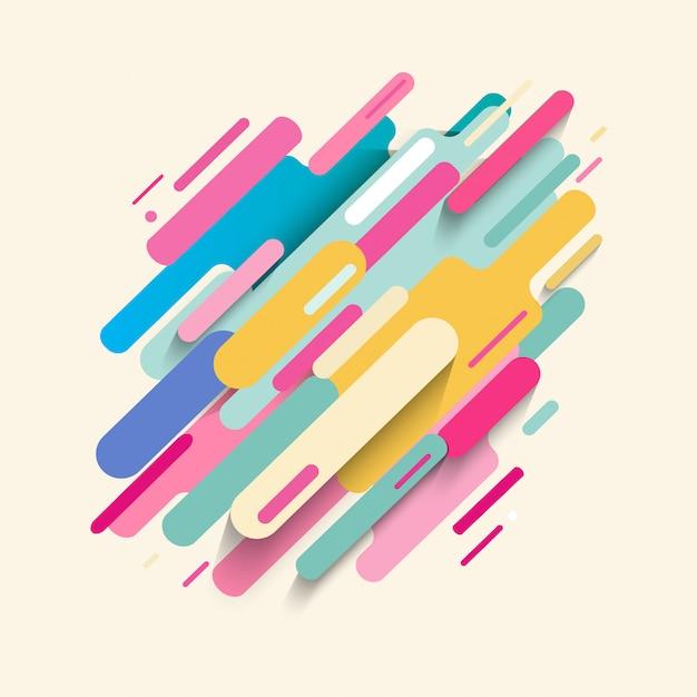 Abstract kleurrijk ornament als achtergrond Premium Vector