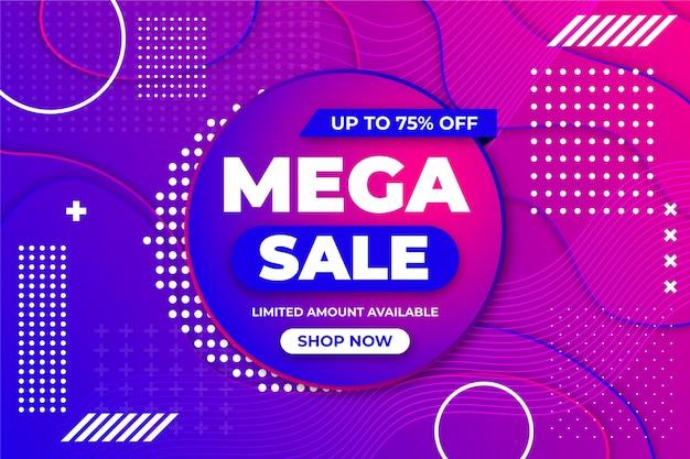 Abstract kleurrijk promotioneel verkoopbehang Gratis Vector