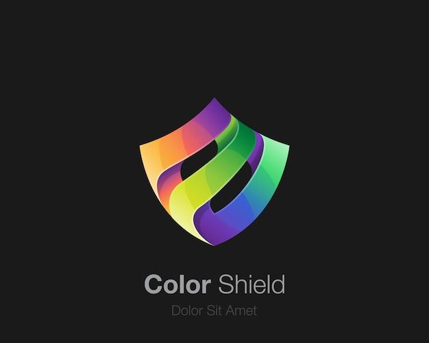 Abstract kleurrijk schildembleem Premium Vector