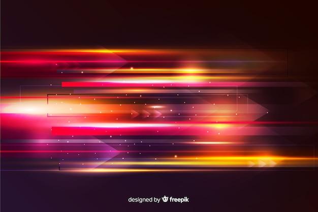 Abstract licht bewegingsbehang Gratis Vector