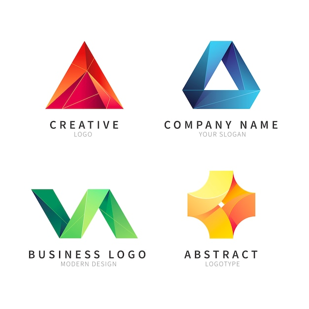 Abstract logo collectie Gratis Vector