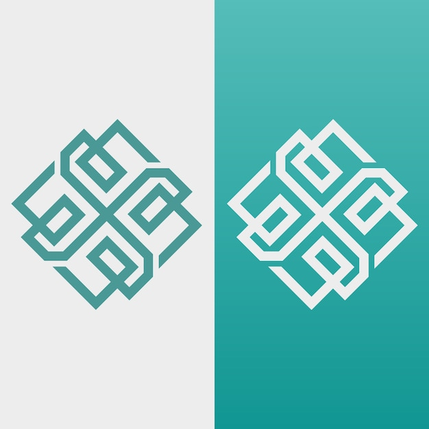 Abstract logo in twee versies Premium Vector