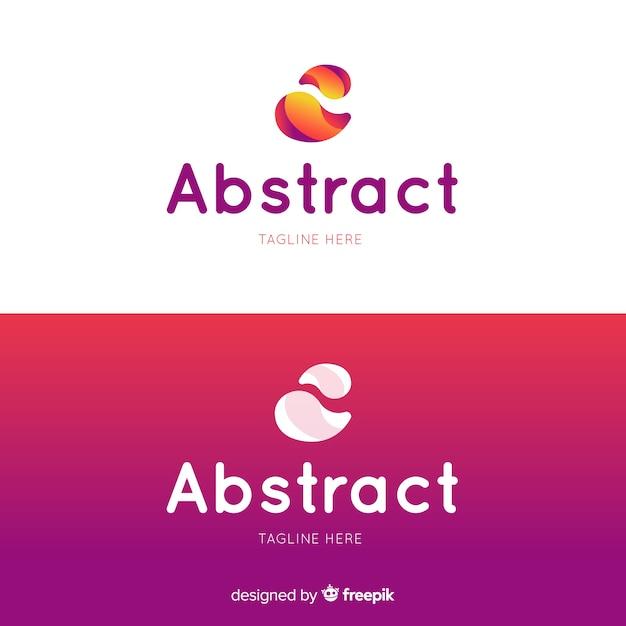 Abstract logo in verloopstijl Gratis Vector