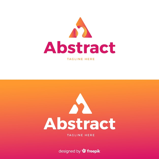 Abstract logo in verloopstijl Gratis Vector