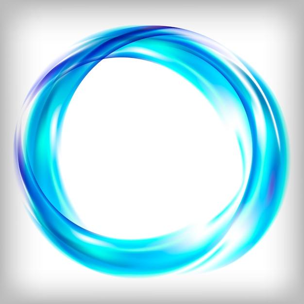 Abstract logo-ontwerp in blauw Gratis Vector