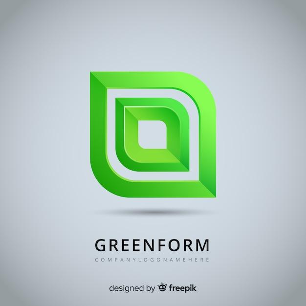 Abstract logo sjabloon in verloopstijl Gratis Vector