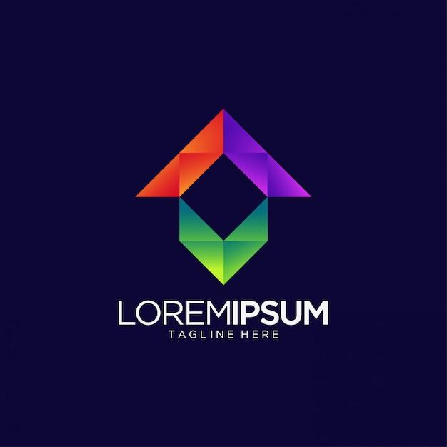 Abstract logo voor media en entertainment Premium Vector