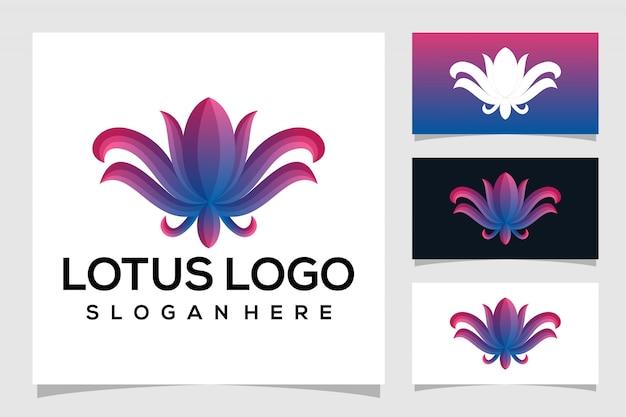 Abstract lotus logo Premium Vector