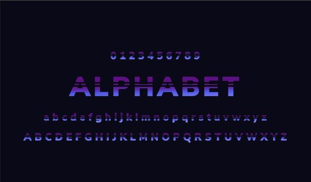 Abstract minimaal alfabet Gratis Vector