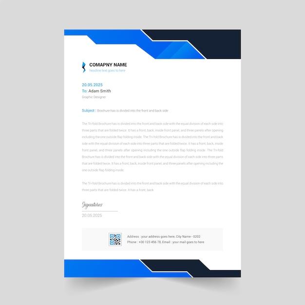 Abstract minimaal briefhoofdontwerp Premium Vector