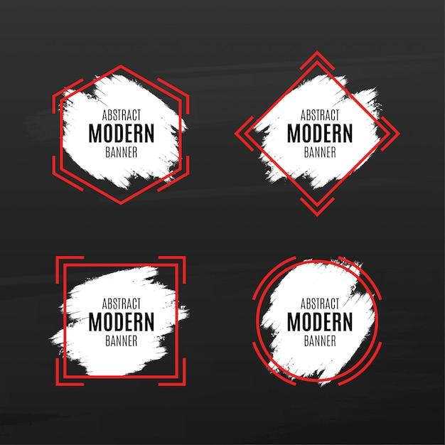 Abstract modern bannerpakket met splash Gratis Vector