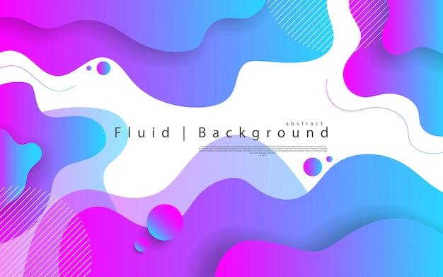 Abstract modern grafisch element. dynamisch gekleurde vormen en golven. gradiënt abstracte achtergrond met vloeiende vloeibare vormen. Premium Vector